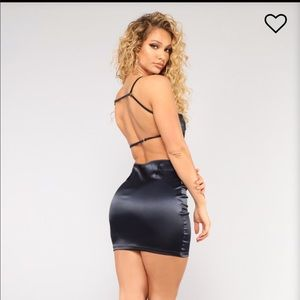 link in bio satin dress fashion nova